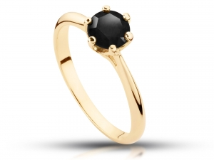 Pierścionek z Black diamond 1,0ct
